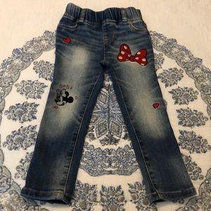 Baby Gap Minnie Mouse Jeans Disney Denim 3T CUTE!!